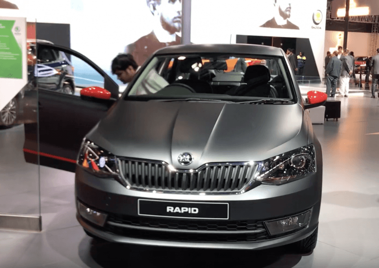 Skoda Rapid 1.0 Litre Turbo Petrol Shown At Auto Expo 2020