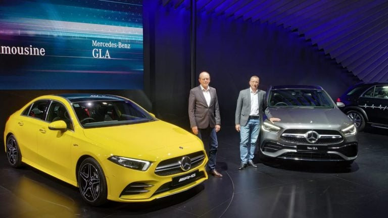 Mercedes AMG A35 And GLA Unveiled At Auto Expo 2020