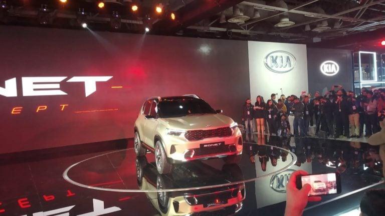 Kia Sonet Compact SUV Concept Debuts At The Auto Expo 2020