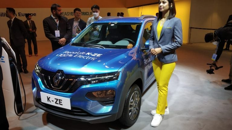 Renault Kwid EV (K-ZE) Showcased At Auto Expo 2020