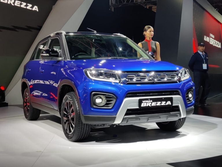 2020 Auto Expo – Maruti Suzuki Vitara Brezza Facelift Petrol Unveiled