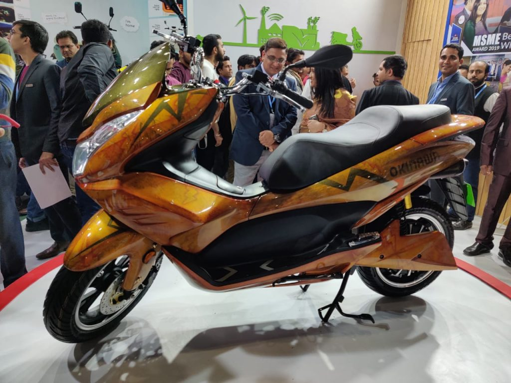 Okinawa Cruiser Maxi Scooter unveiled at 2020 Auto Expo