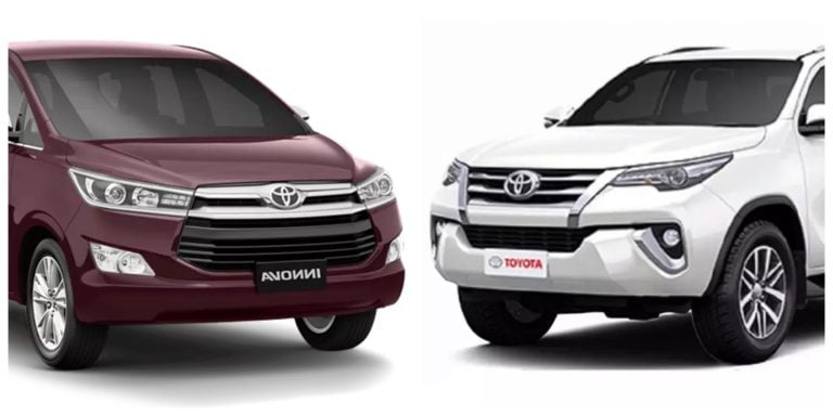 Toyota Innova Crsyta and Fortuner are Best-Selling in their Segment – Know Why!