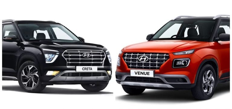 2020 Hyundai Creta Vs Hyundai Venue – Variant Wise Price Difference