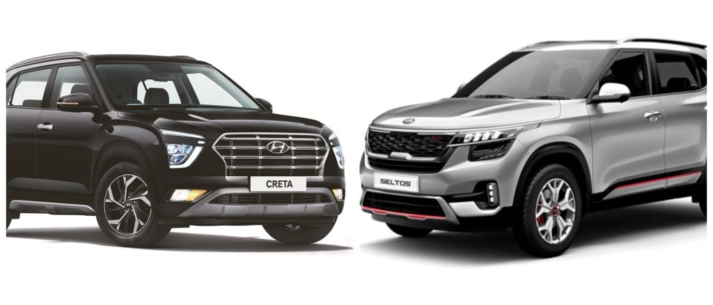 Hyundai Creta vs Kia Seltos - Variant-wise features comparison