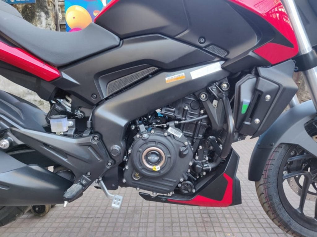 The Bajaj Dominar 250 borrows its single-cylinder 250cc engine from the KTM Duke 250.
