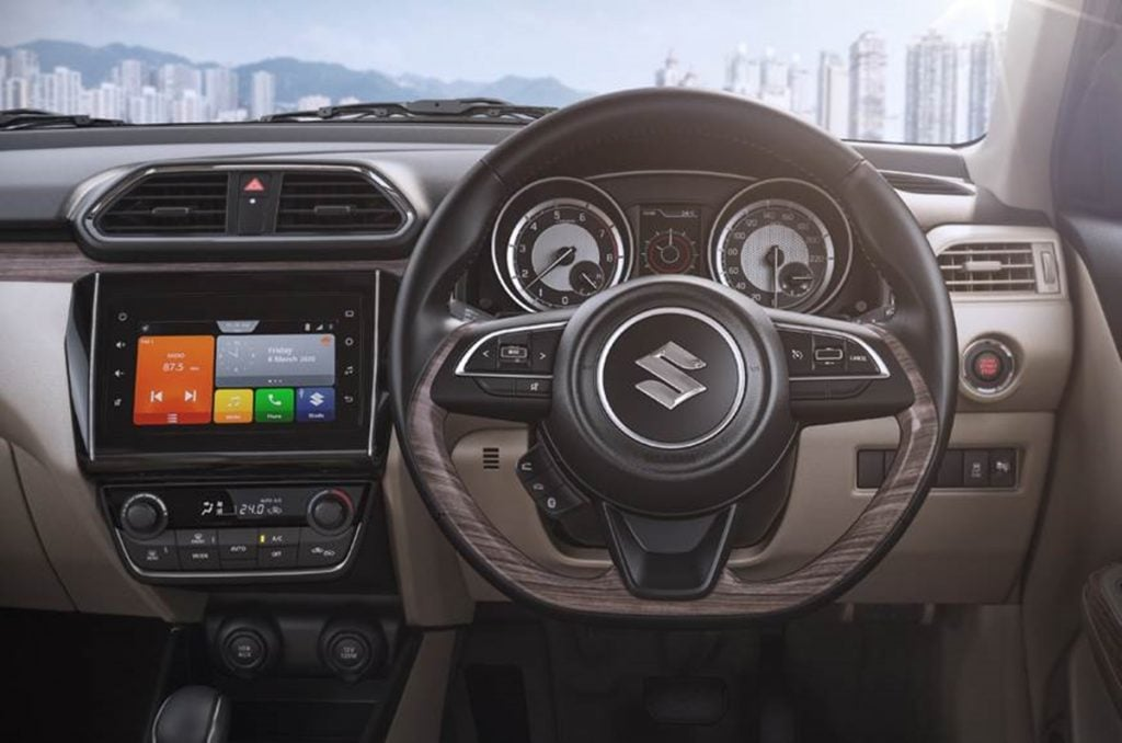 2020 Dzire facelift interior