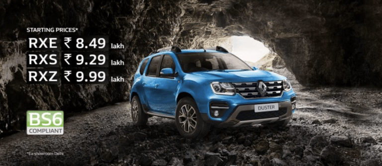 BS6 Renault Duster Petrol Launched; Prices Start At Rs 8.49 Lakhs