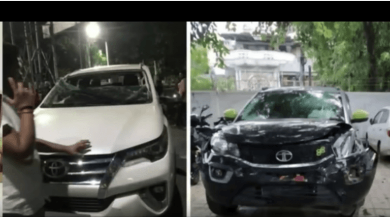 Tata Nexon Crashes Into Toyota Fortuner – What Happens Will Shock You