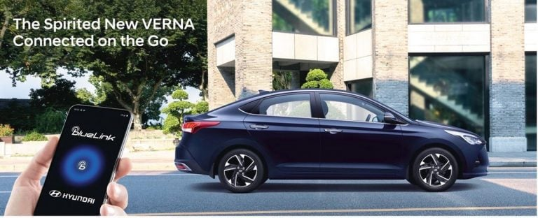 After Venue, Elantra and Creta, the Hyundai Verna Facelift will also get Blue-Link