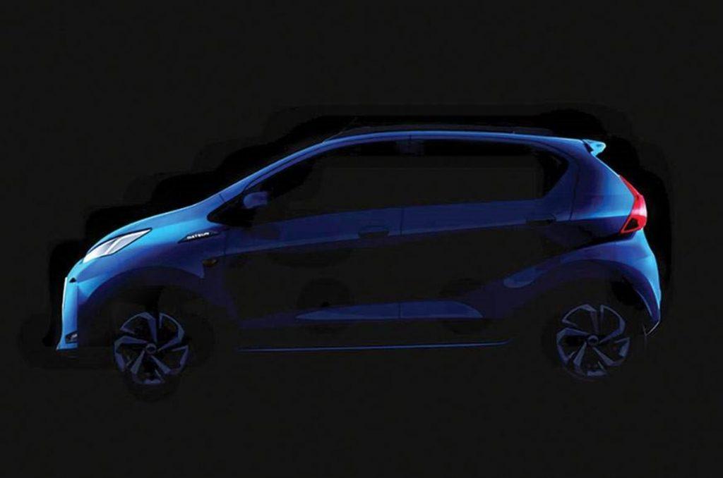 Datsun a partagé une image teaser de la même chose.