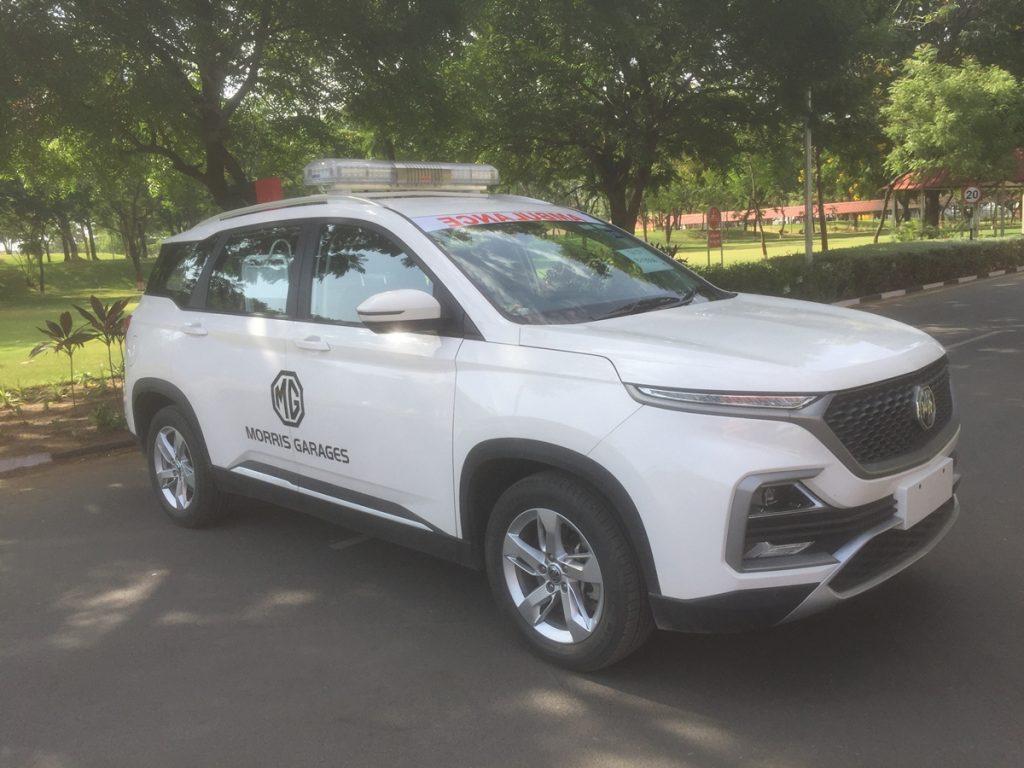 MG Motors a fait don d'une ambulance Hector dédiée aux patients COVID-19 à l'État du Gujarat.