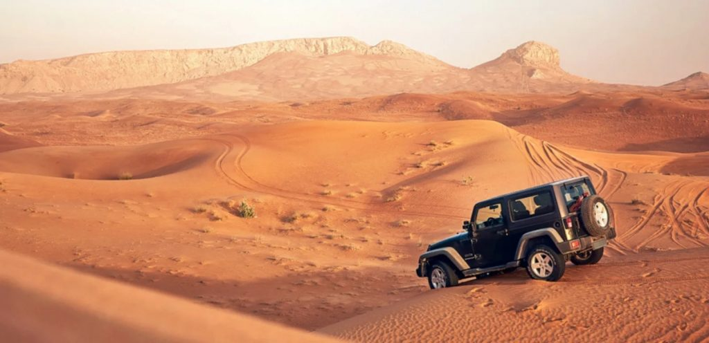 Dune Bashing is an extremely fun activity and should be in list of all off-road enthusiasts.