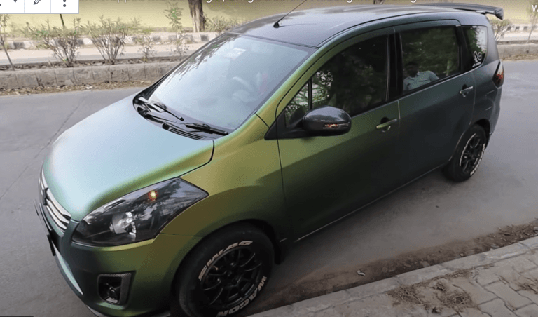 Check Out This Chameleon Wrapped Maruti Ertiga Changing Colours