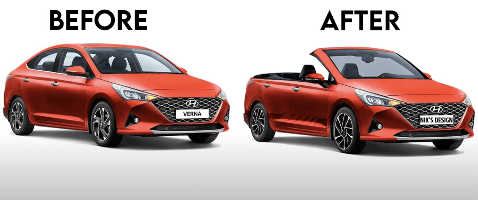 Hyundai Verna Rendered As A Convertible Looks Completely Dope