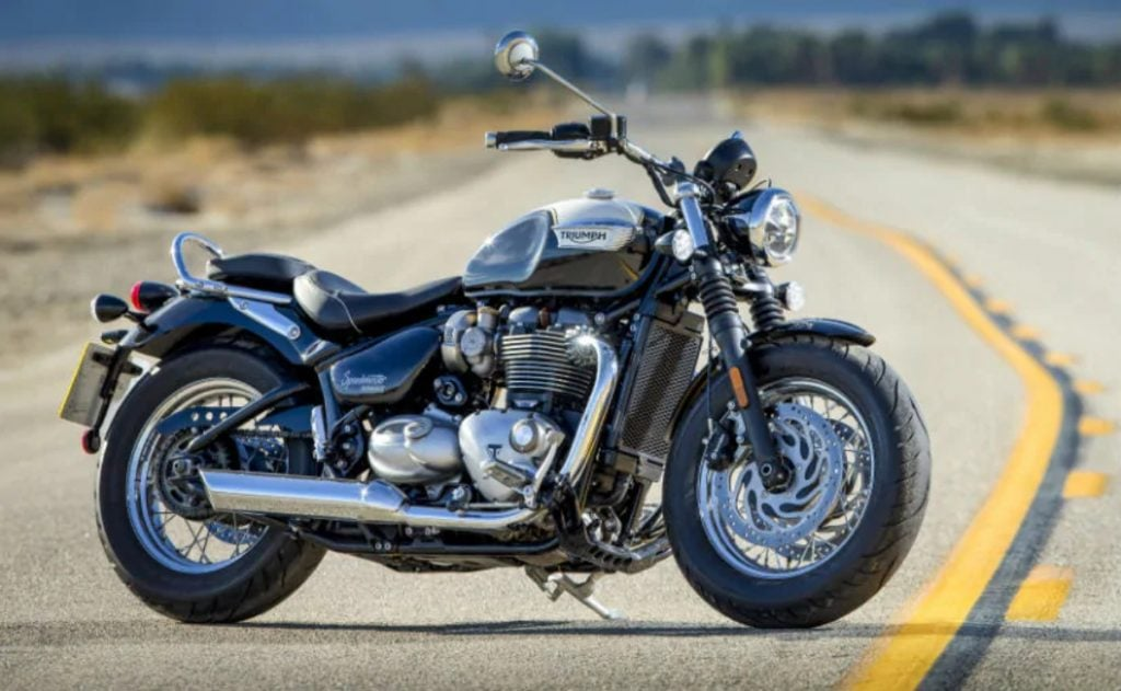 The Triumph Bonneville Speedmaster is a beautiful cruiser, one that can give any Harley Davidson a run for its money.