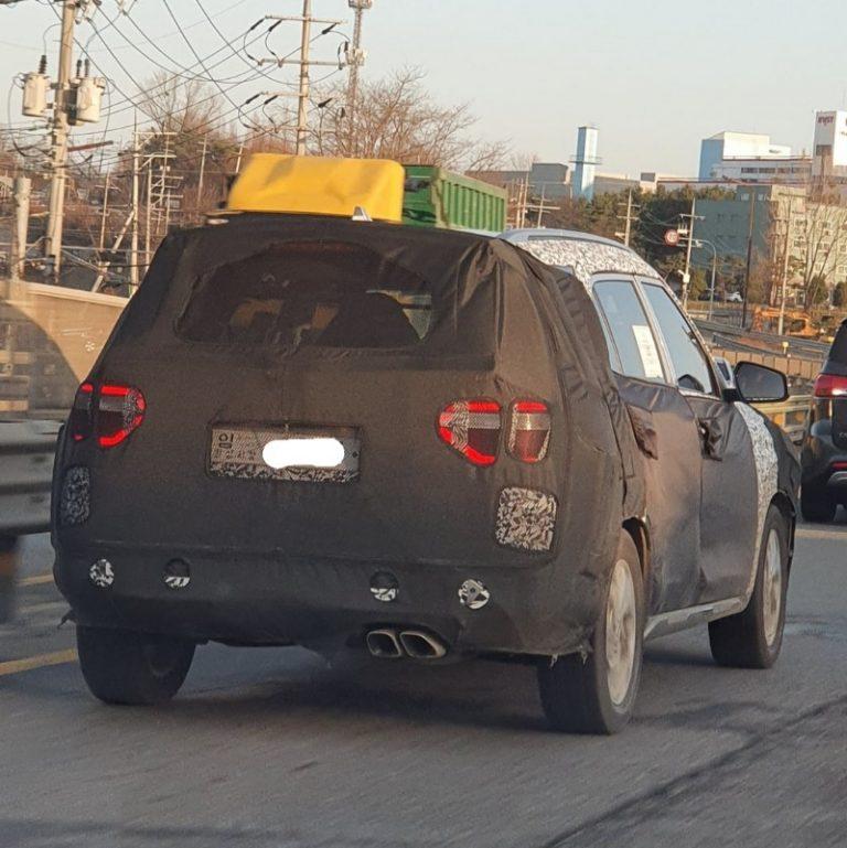 Rear Spy Shot Of 2020 Hyundai Creta 7-Seater Hints A Different Design