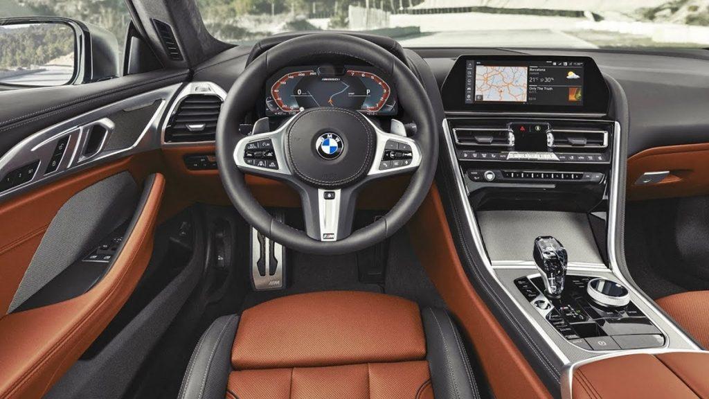 Intérieurs de la BMW Série 8 Gran Coupé et M8.