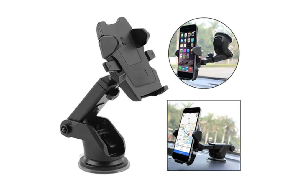 A mobile phone holder can be very handy for cars without infotainment system, especially for navigation.