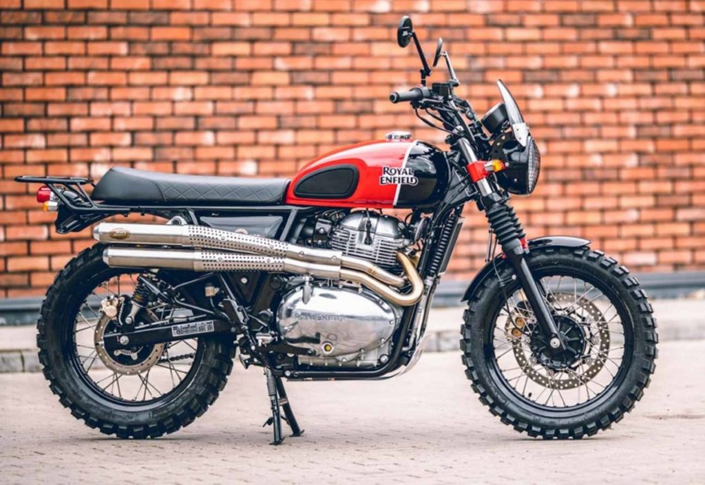 This Royal Enfield Interceptor 650 has been custom-built by an RE dealer in Latvia