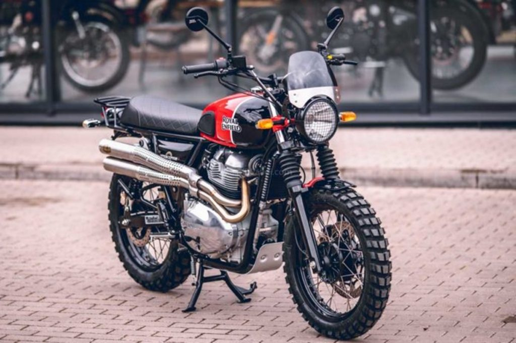 Its called the Royal Enfield Interceptor MCH Scrambler and it has been built by Moto Classic House