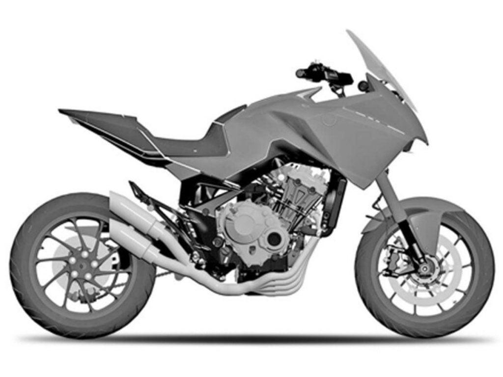 La Honda CB4X est essentiellement un croisement entre un vélo de sport et un tourer d'aventure.