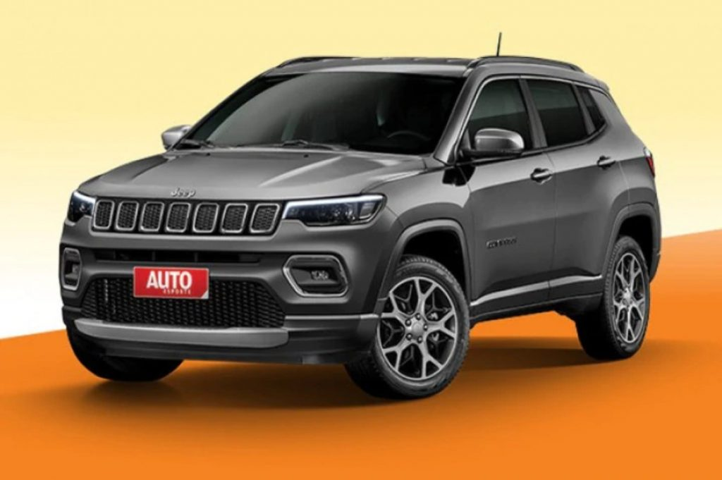 This is a rendering of the Jeep Compass facelift which is how we expect the seven-seater Grand Compass will look like.