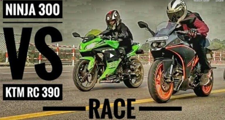 Kawasaki Ninja 300 Vs KTM RC 390 – See Who Wins The Race