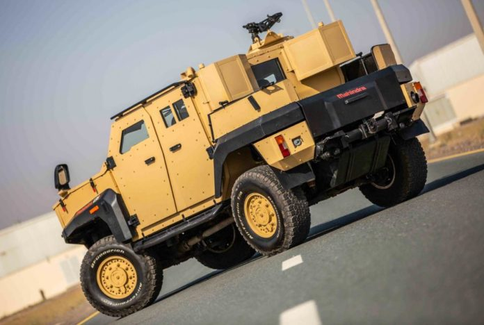 It is a purpose-built armored light specialist vehicle that can withstand Ballistic protection up to stage B7 and STANAG Level II.