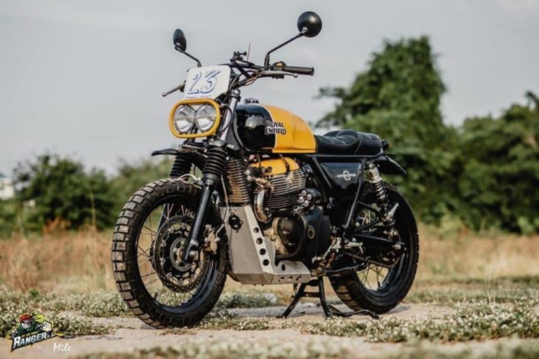 This Modified Royal Enfield Interceptor 650 Can Hit a Trail in Scrambler Style!