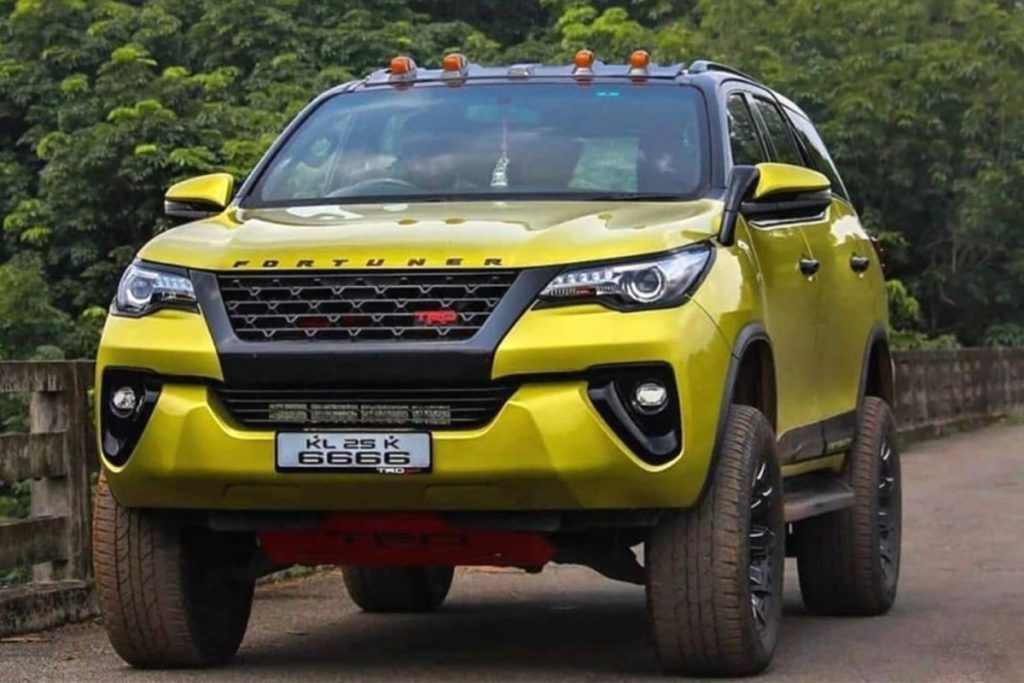 This modified Toyota Fortuner is known as the Yellow Ghost 6666.