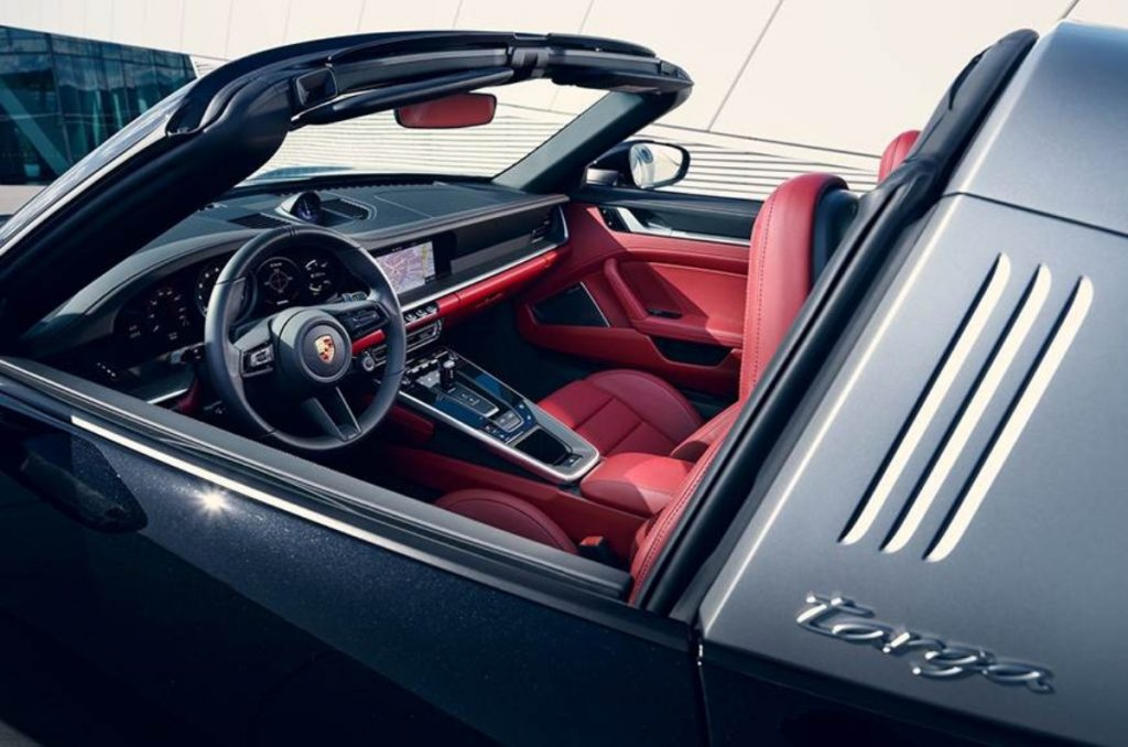 Intérieurs de la Porsche 911 Targa.