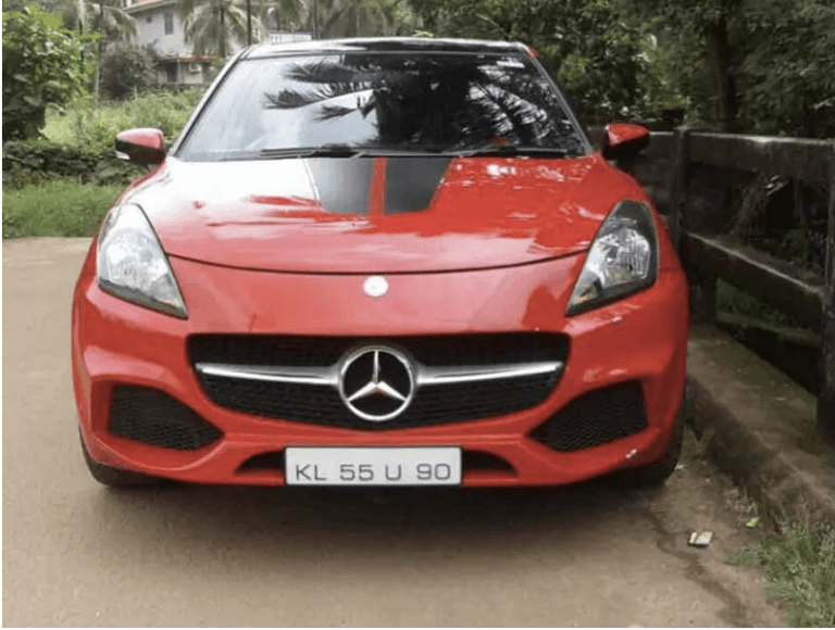 Here's Mercedes A-Class From The Front But Maruti Baleno From Behind