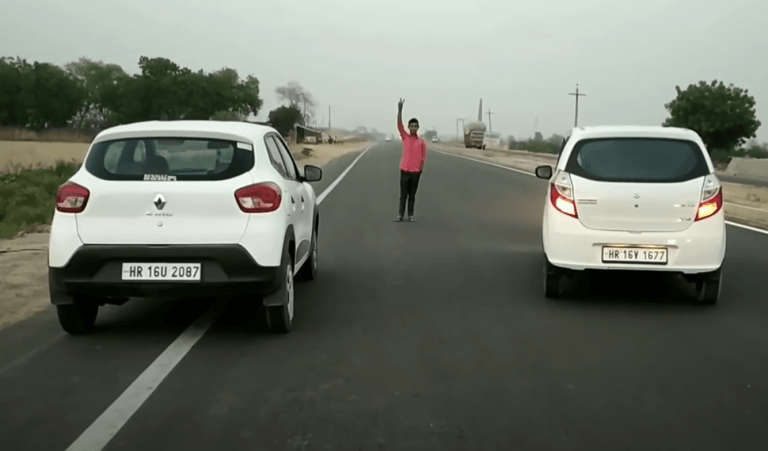 Maruti Alto K10 Vs Renault Kwid – See Who Wins The Drag Race