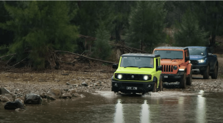 Suzuki Jimny Vs Iconic Ford Raptor And Jeep Wrangler – Off-Roading Video