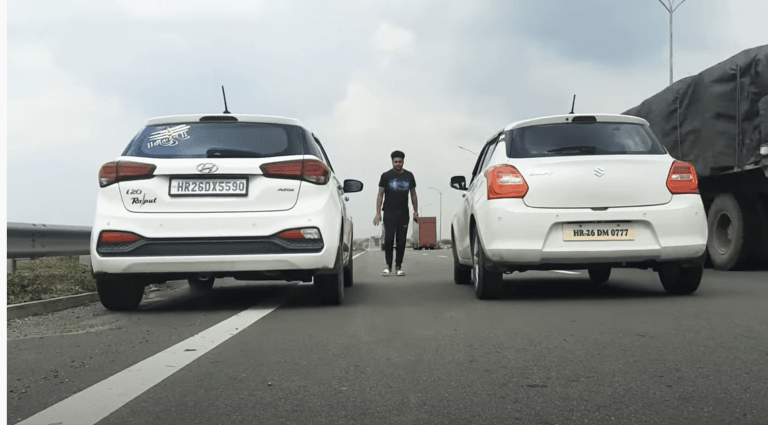 Maruti Swift Vs Hyundai i20 – See Who Wins This Drag Race!