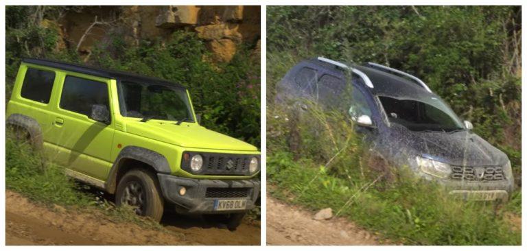 Suzuki Jimny Vs Renault (Dacia) Duster Off-Roading Challenge – Video