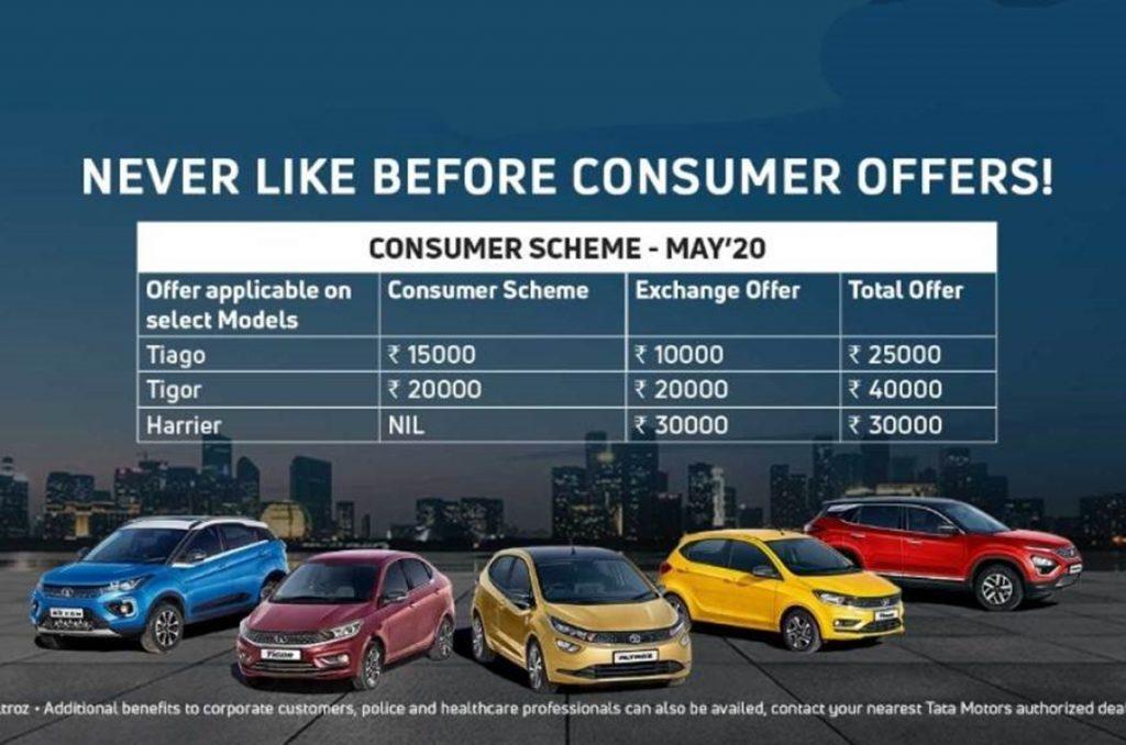 Tata Motors offre plusieurs remises lucratives sur le Tiago, le Tigor et le Harrier.