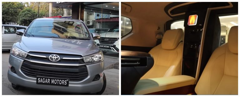 This Toyota Innova Crysta Gets Interior And Features Of A Rolls Royce