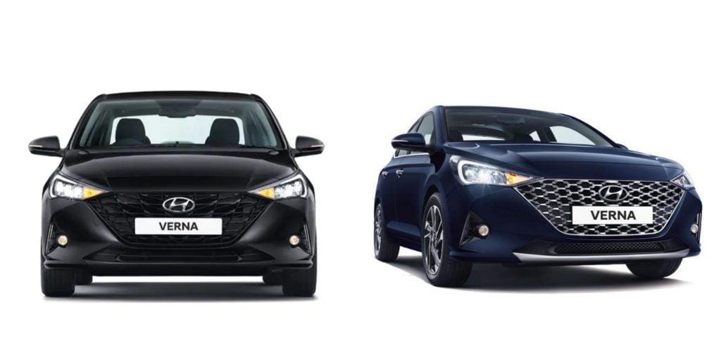 La Hyundai Verna Turbo obtient une calandre entièrement noire avec un design différent avec une lèvre noircie.