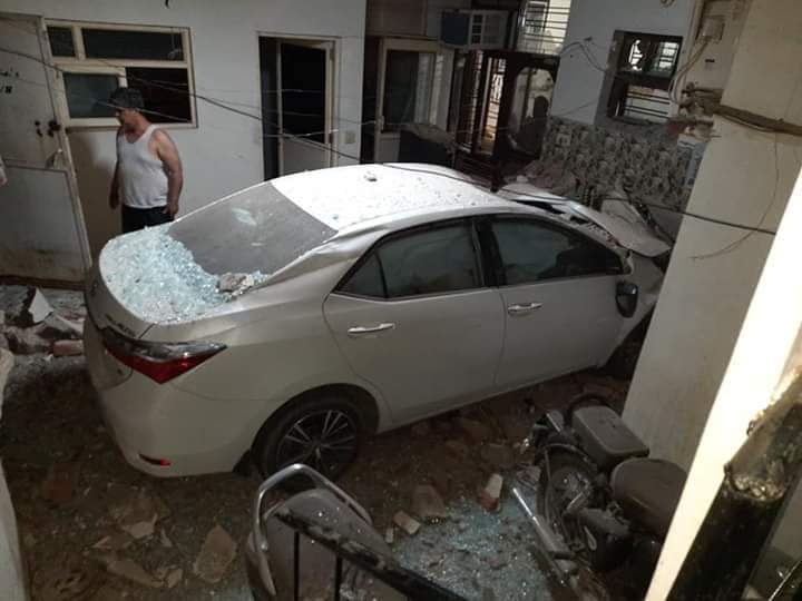 This Toyota Corolla Altis Breaks A Wall And Crashes Into A House