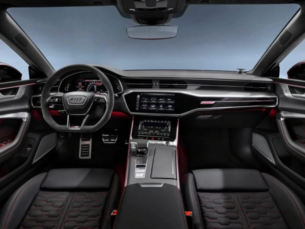 Intérieur de l'Audi RS7 2020.