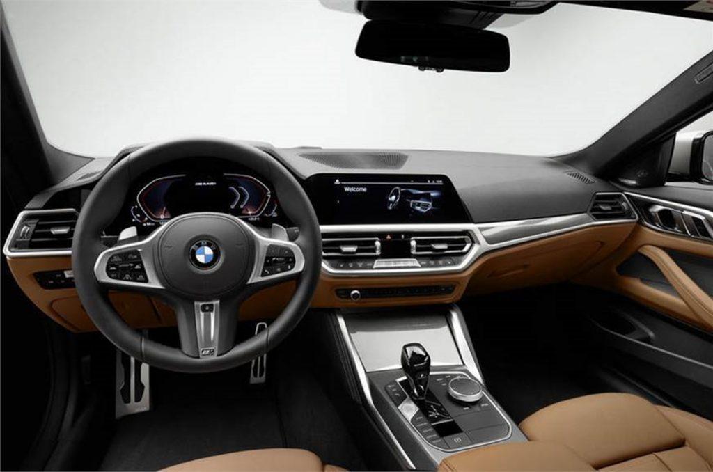 Intérieur de la BMW Série 4 Coupé 2020.