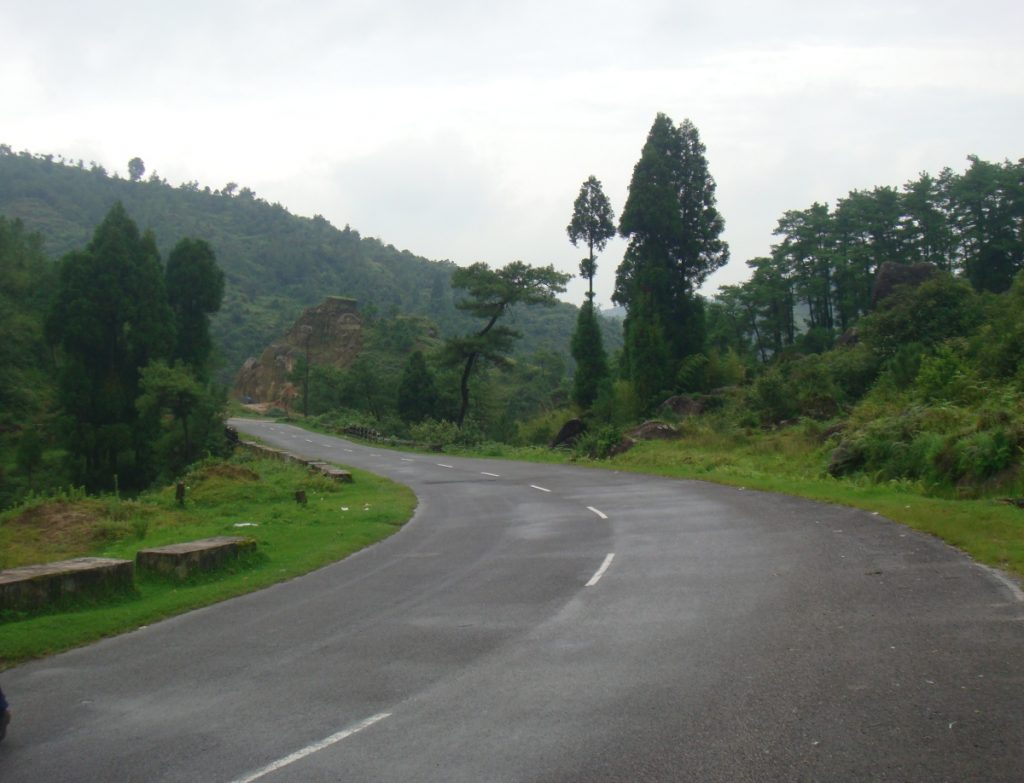 Your north-eastern motorcycle road trip will mostly look like this - mountains, lush greens and wet roads.