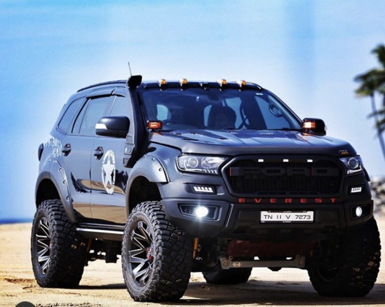 Modified Ford Endeavour Looks Like A Monster Truck With 20-inch Wheels!