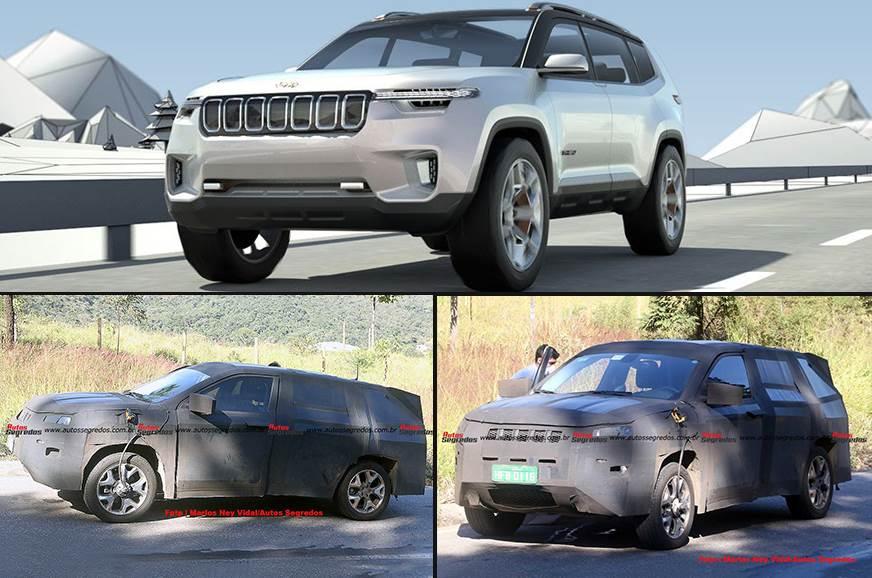 Un boussole Jeep 7 places espionné au Brésil