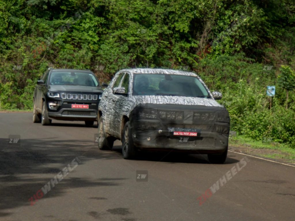 The India-spec Jeep Compass facelift has been spied for the first time in India.