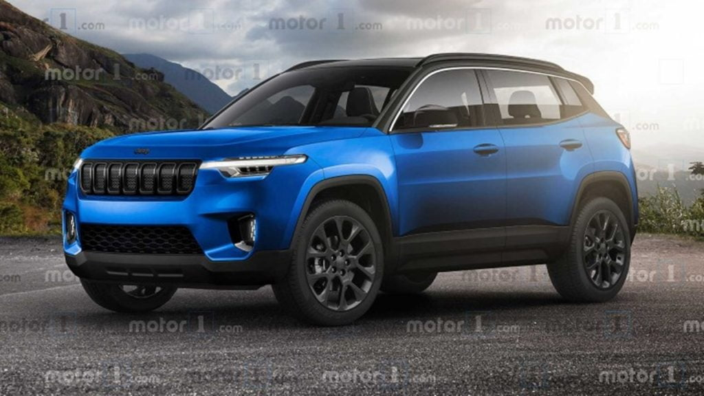 This is a rendering of what the upcoming Jeep sub-compact SUV could look like.