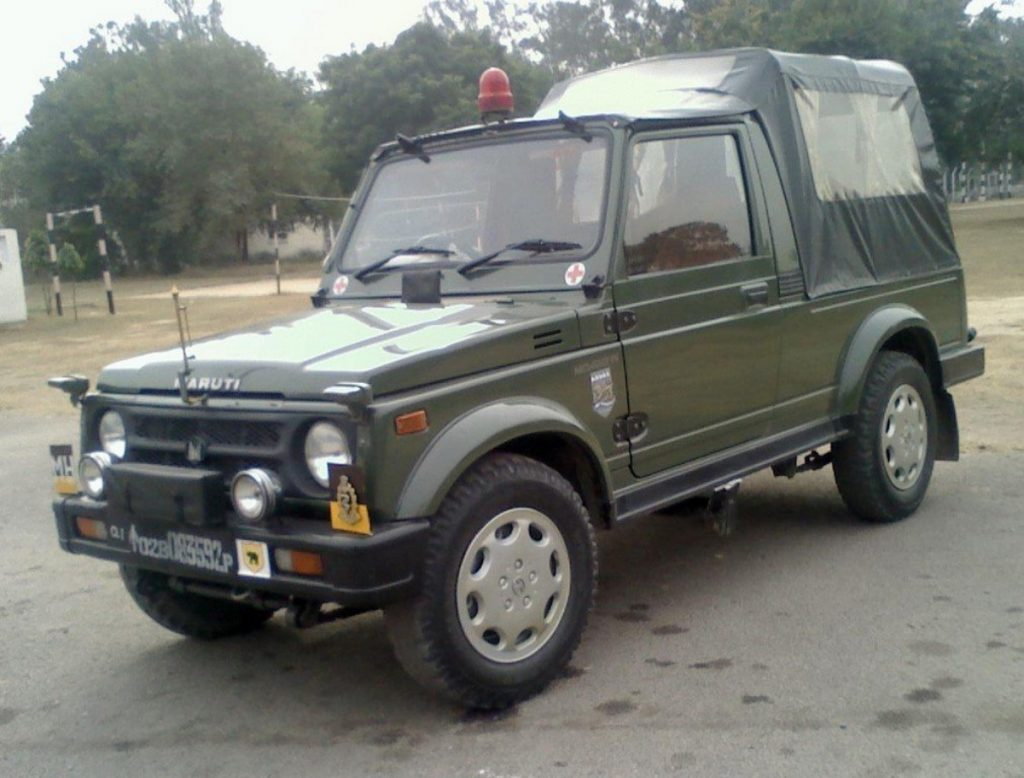 Le Maruti Suzuki Gypsy est le véhicule le plus synonyme des forces de défense indiennes.