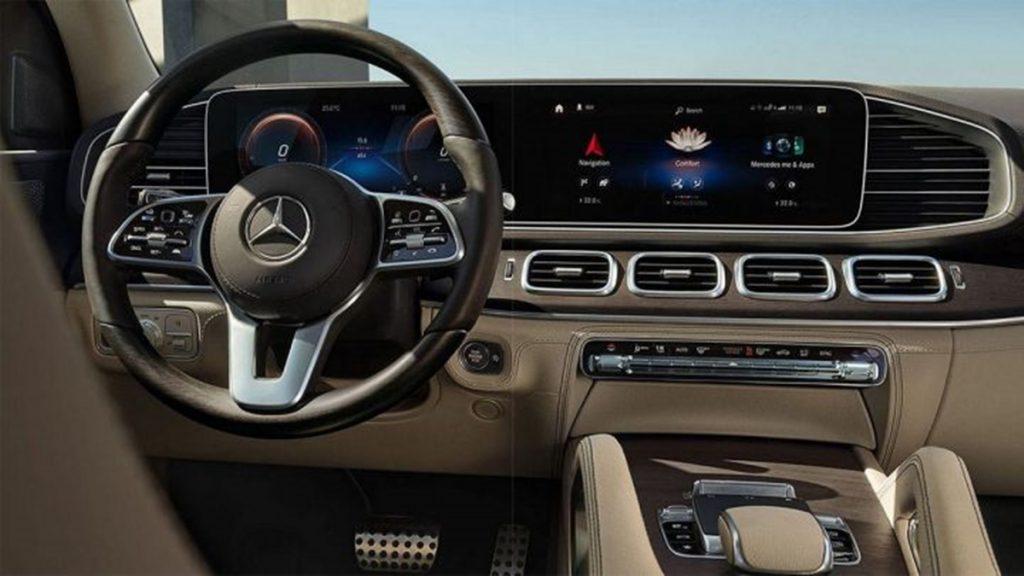 Intérieur de la Mercedes-Benz GLS 2020.
